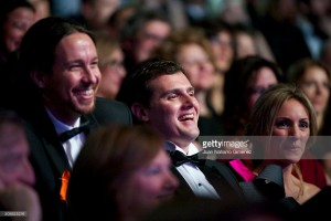 pablo-iglesias-and-albert-rivera-attend-the-30th-edition-of-the-goya-picture-id508825216